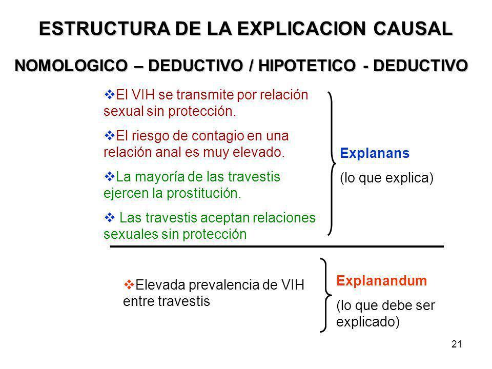 ESTRUCTURA DE LA EXPLICACION CAUSAL