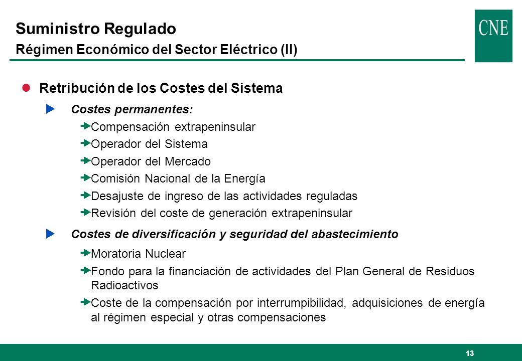 Suministro Regulado Régimen Económico del Sector Eléctrico (II)