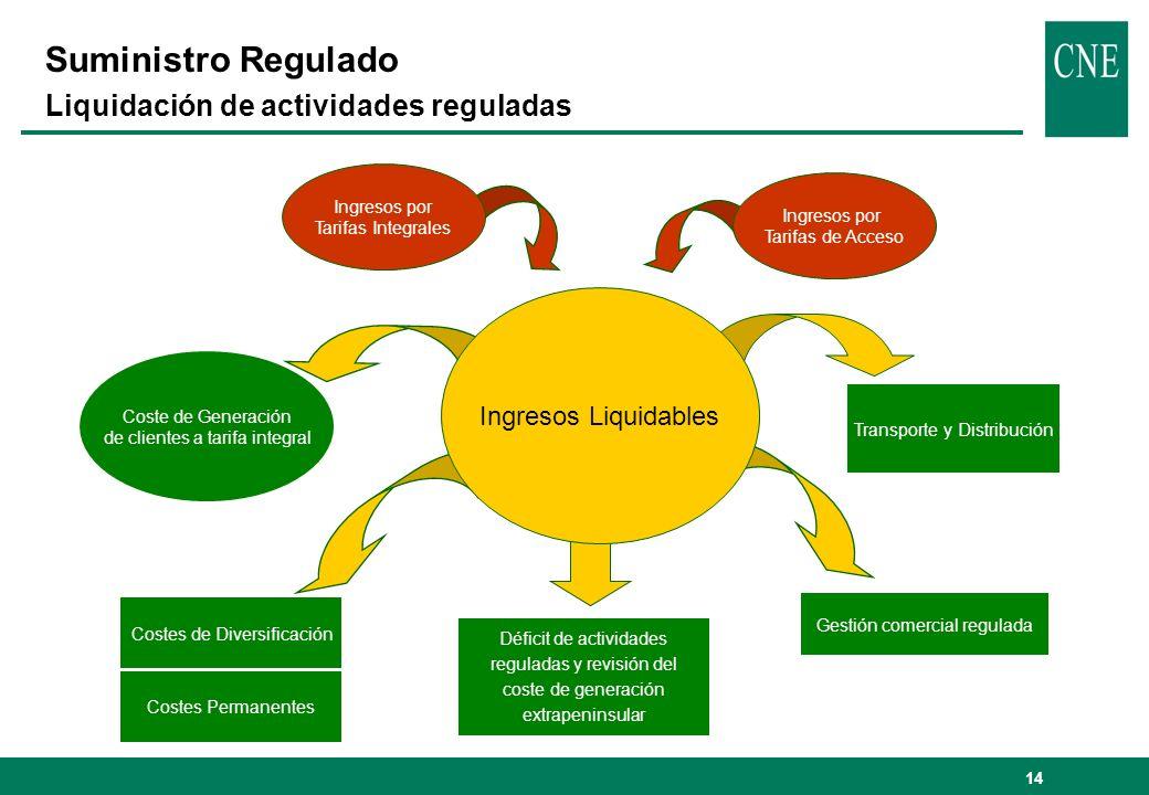 Suministro Regulado Liquidación de actividades reguladas