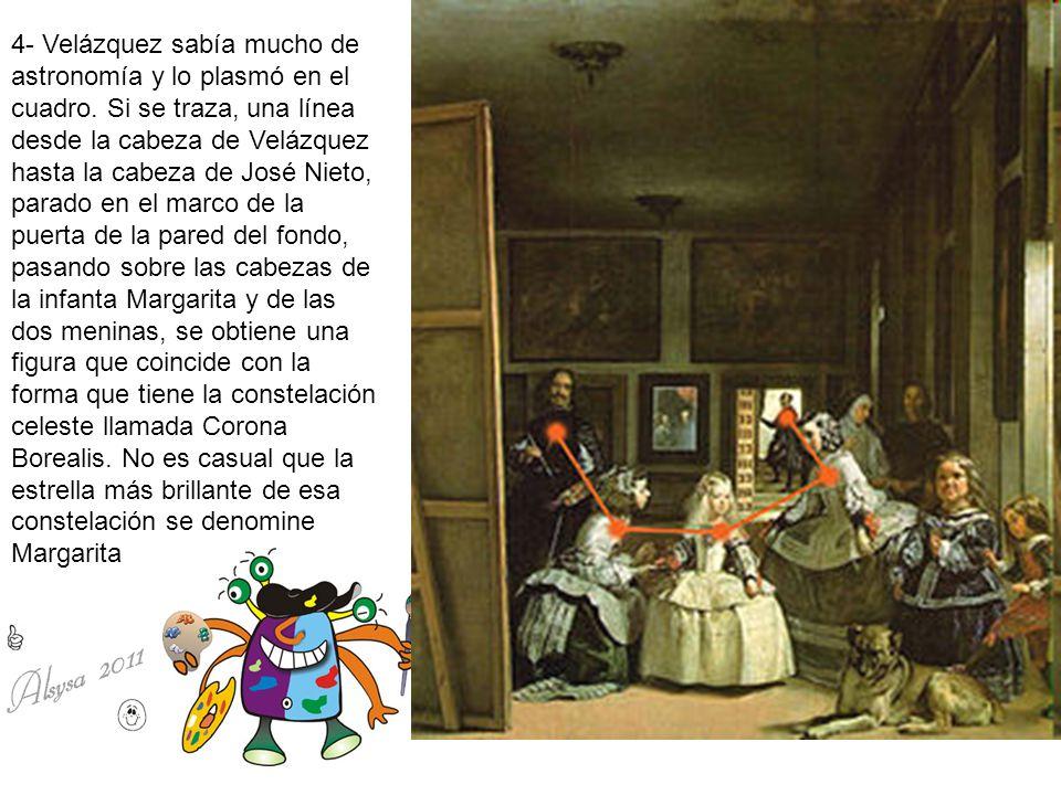 4- Velázquez sabía mucho de astronomía y lo plasmó en el cuadro