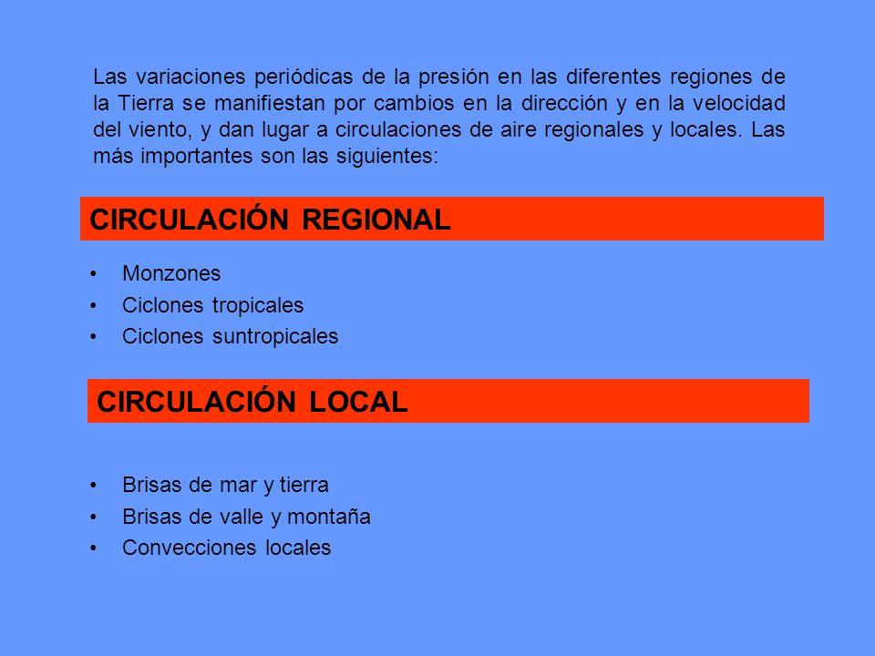 CIRCULACIÓN REGIONAL CIRCULACIÓN LOCAL