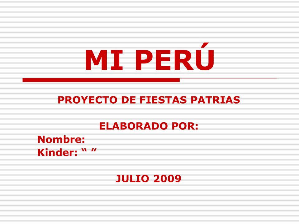 PROYECTO DE FIESTAS PATRIAS