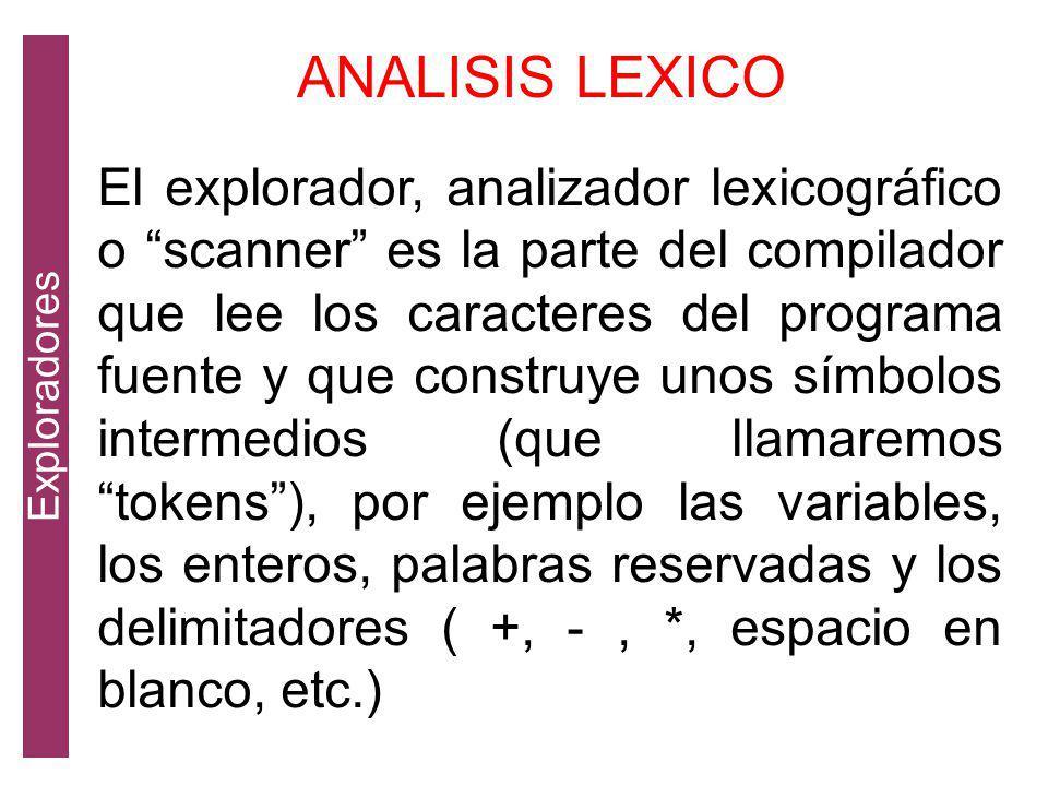 Exploradores ANALISIS LEXICO.