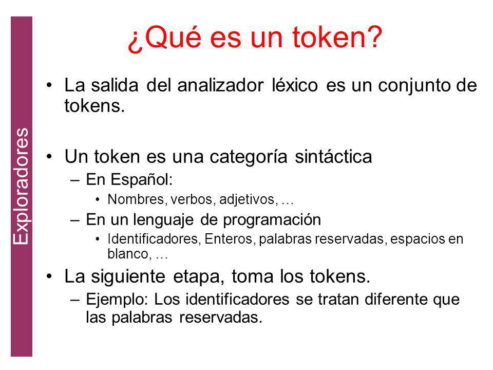 ¿Qué es un token Exploradores