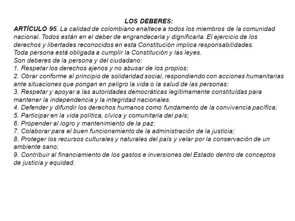 LOS DEBERES: