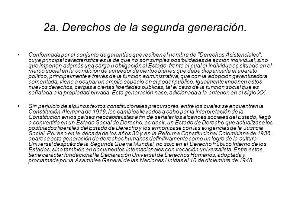 2a. Derechos de la segunda generación.