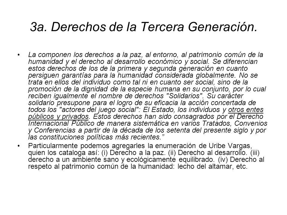 3a. Derechos de la Tercera Generación.