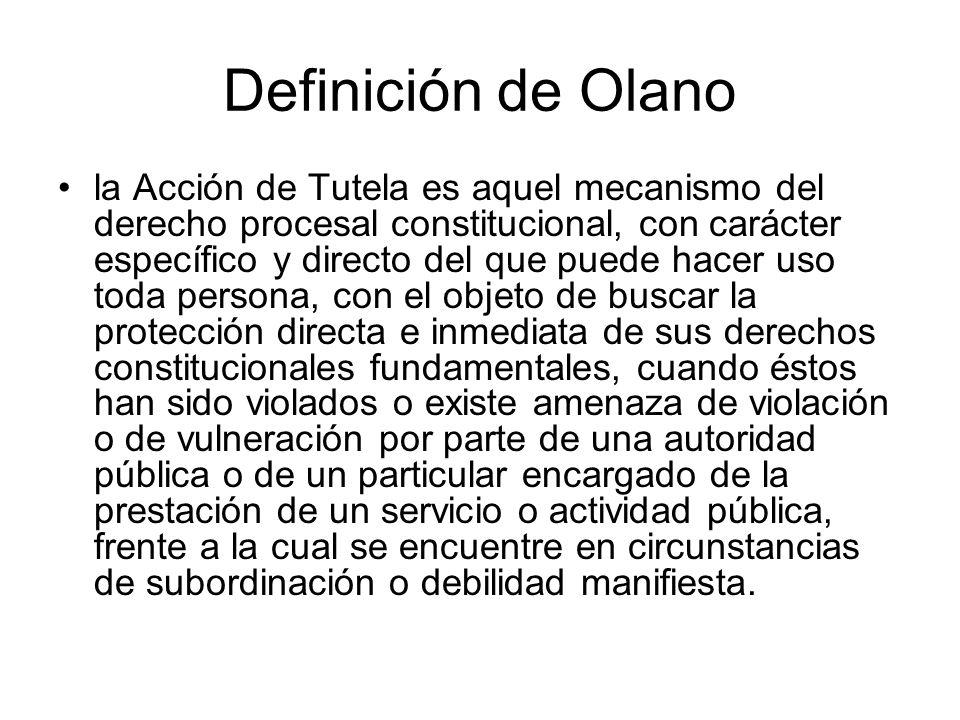 Definición de Olano