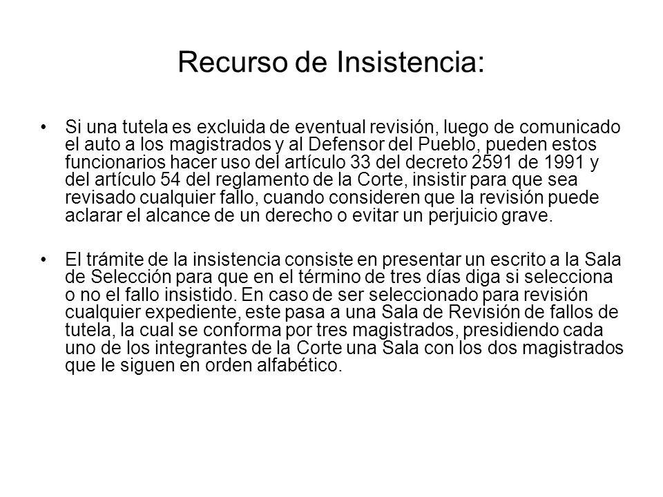 Recurso de Insistencia: