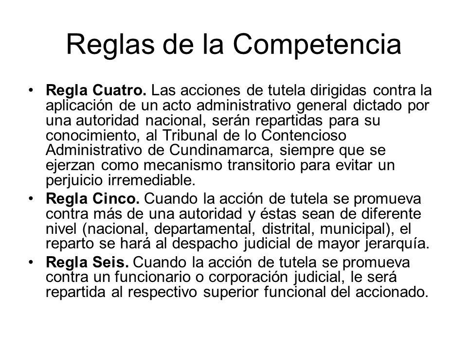 Reglas de la Competencia