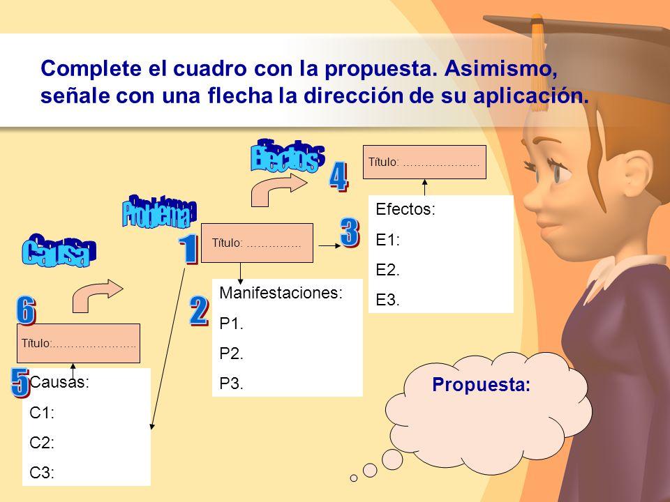 Efectos 4 Problema 3 1 Causa 6 2 5