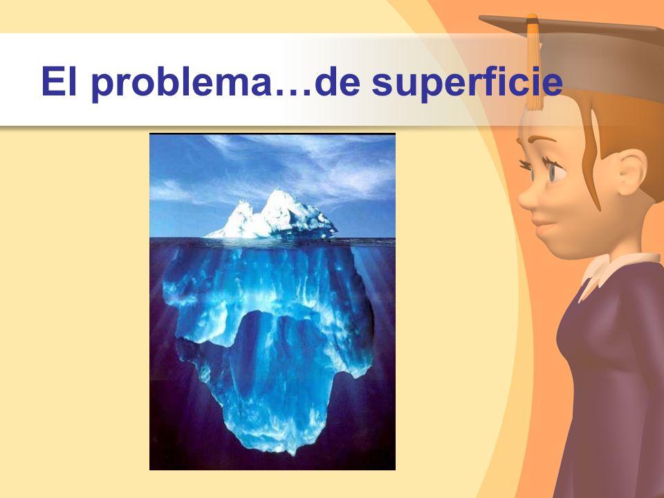 El problema…de superficie