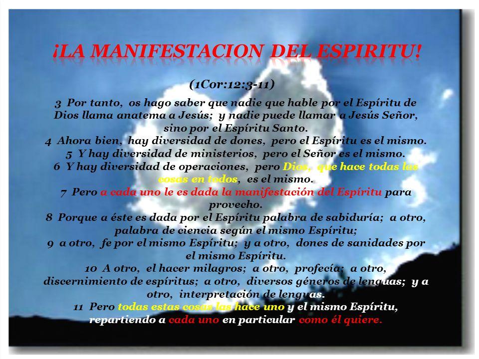 ¡La Manifestacion del Espiritu!