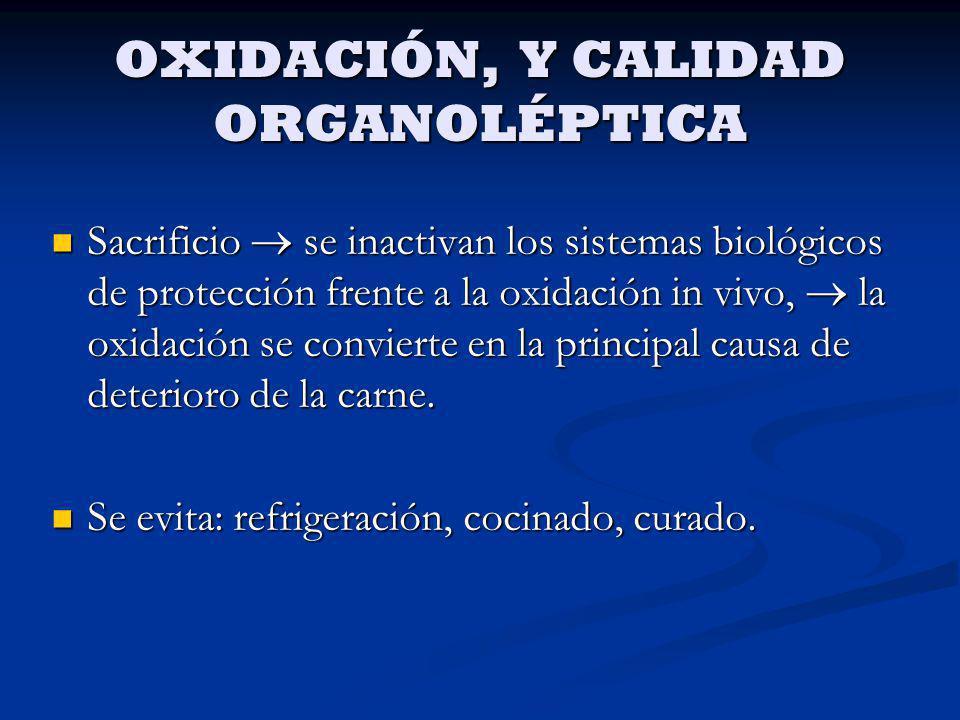 OXIDACIÓN, Y CALIDAD ORGANOLÉPTICA