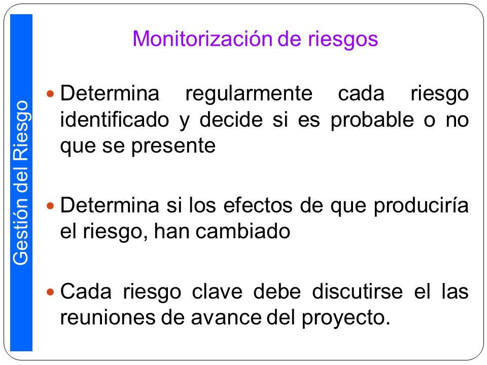 Monitorización de riesgos