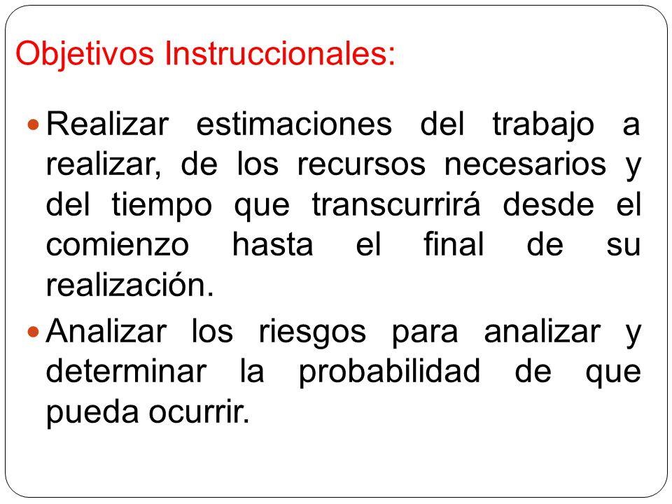 Objetivos Instruccionales: