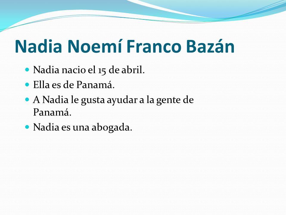 Nadia Noemí Franco Bazán