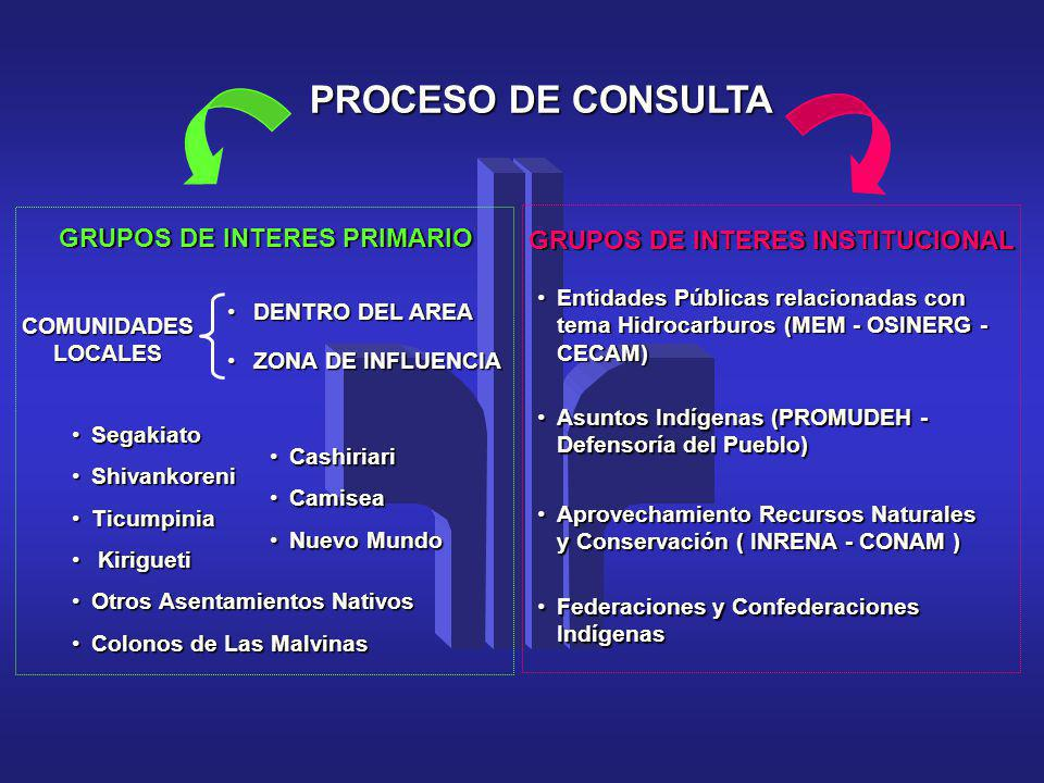 GRUPOS DE INTERES PRIMARIO GRUPOS DE INTERES INSTITUCIONAL
