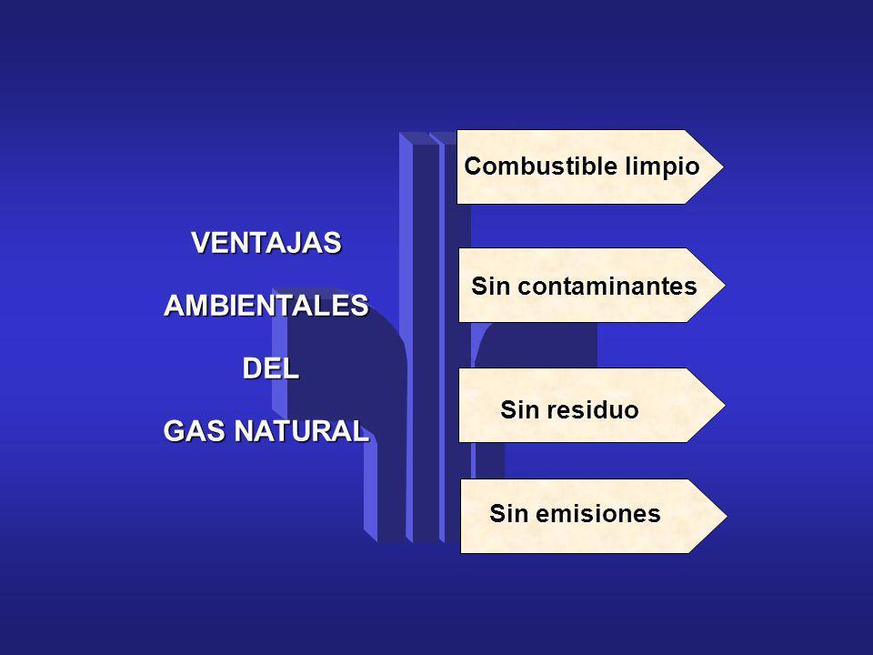 VENTAJAS AMBIENTALES DEL GAS NATURAL
