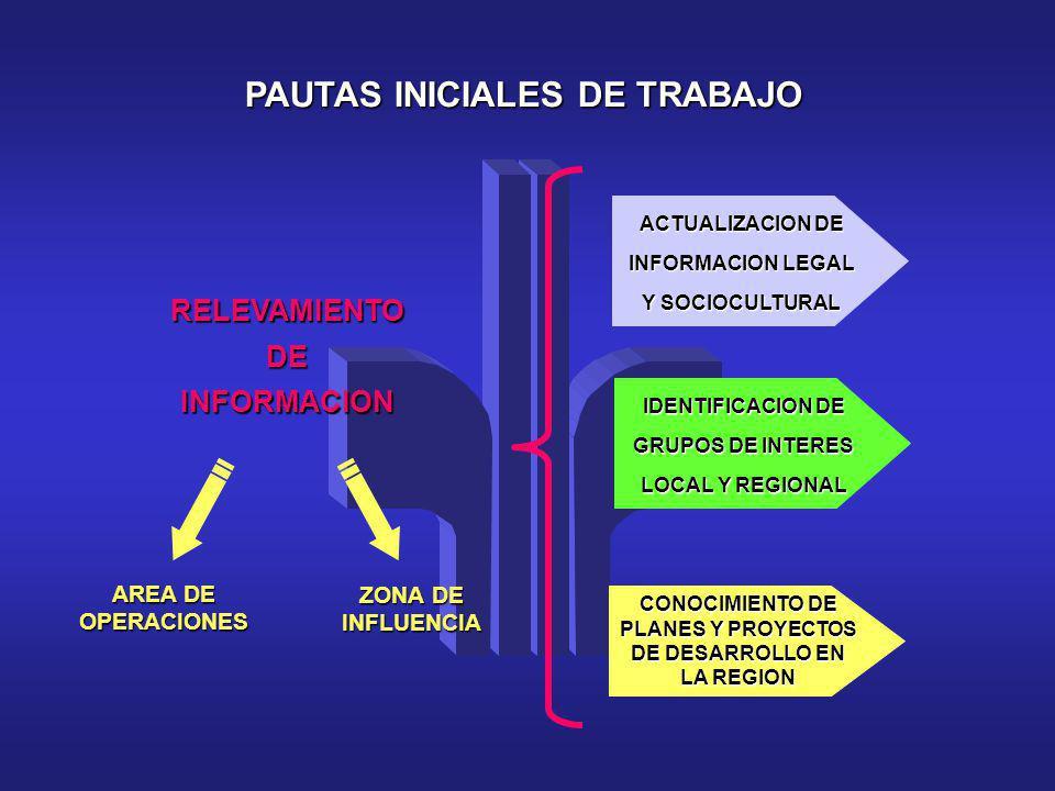 PAUTAS INICIALES DE TRABAJO