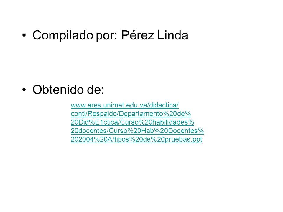 Compilado por: Pérez Linda