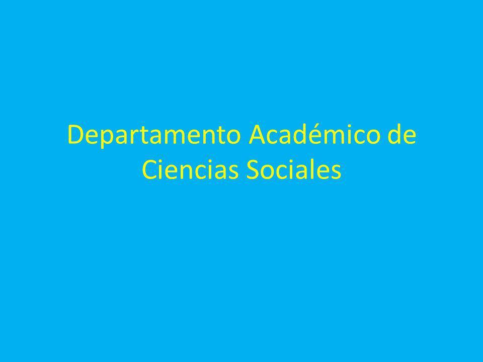 Departamento Académico de Ciencias Sociales