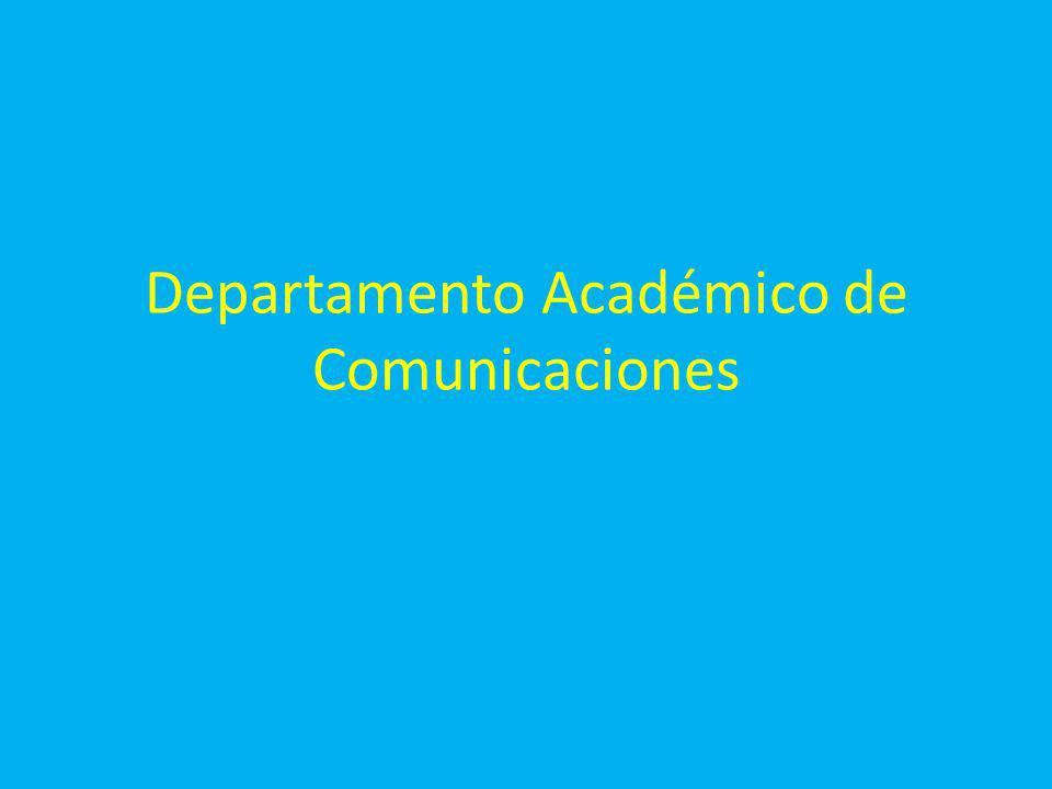 Departamento Académico de Comunicaciones