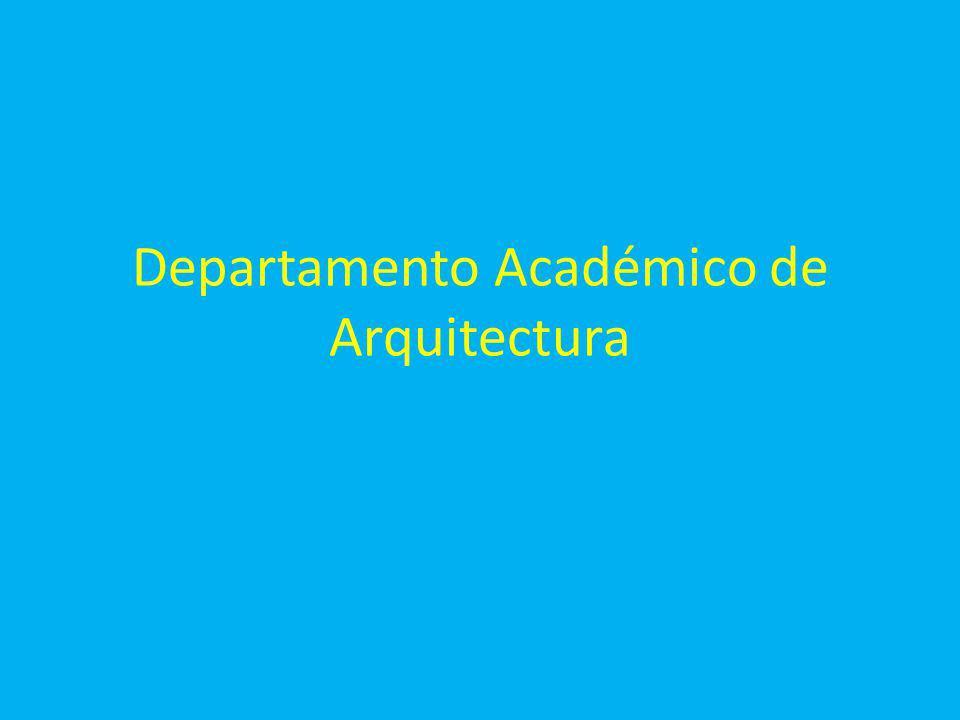 Departamento Académico de Arquitectura