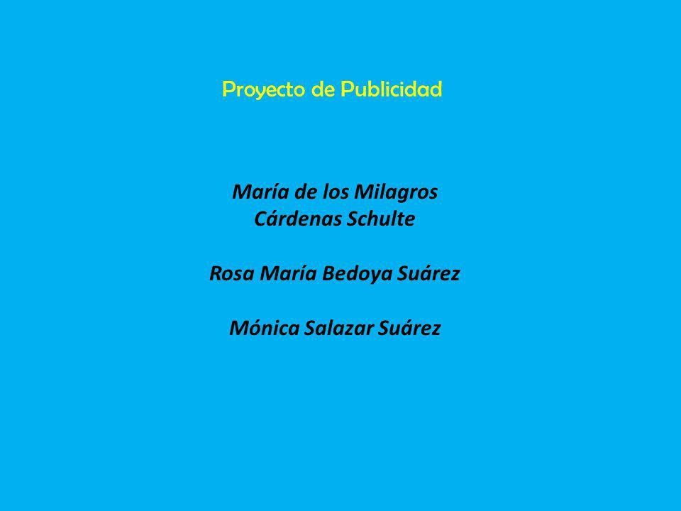 María de los Milagros Cárdenas Schulte Rosa María Bedoya Suárez