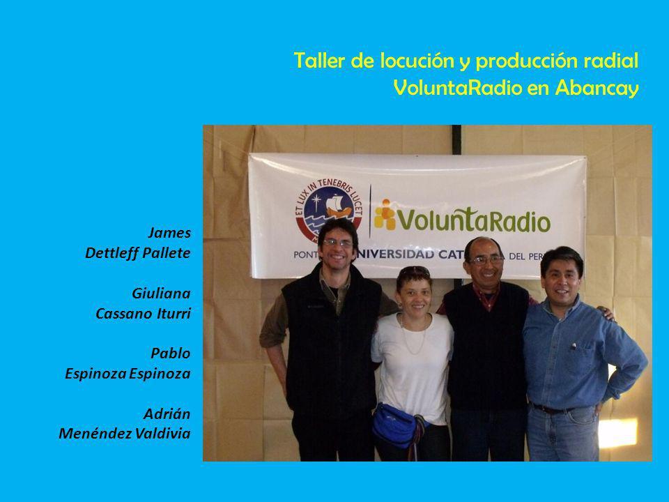 Taller de locución y producción radial VoluntaRadio en Abancay