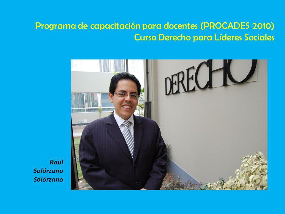 Programa de capacitación para docentes (PROCADES 2010)