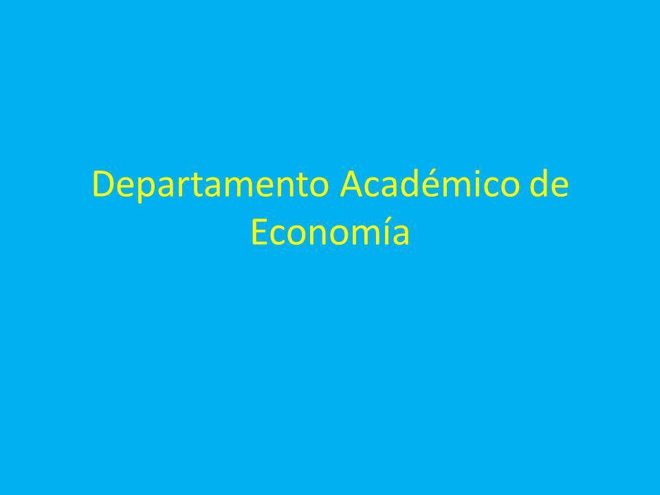 Departamento Académico de Economía