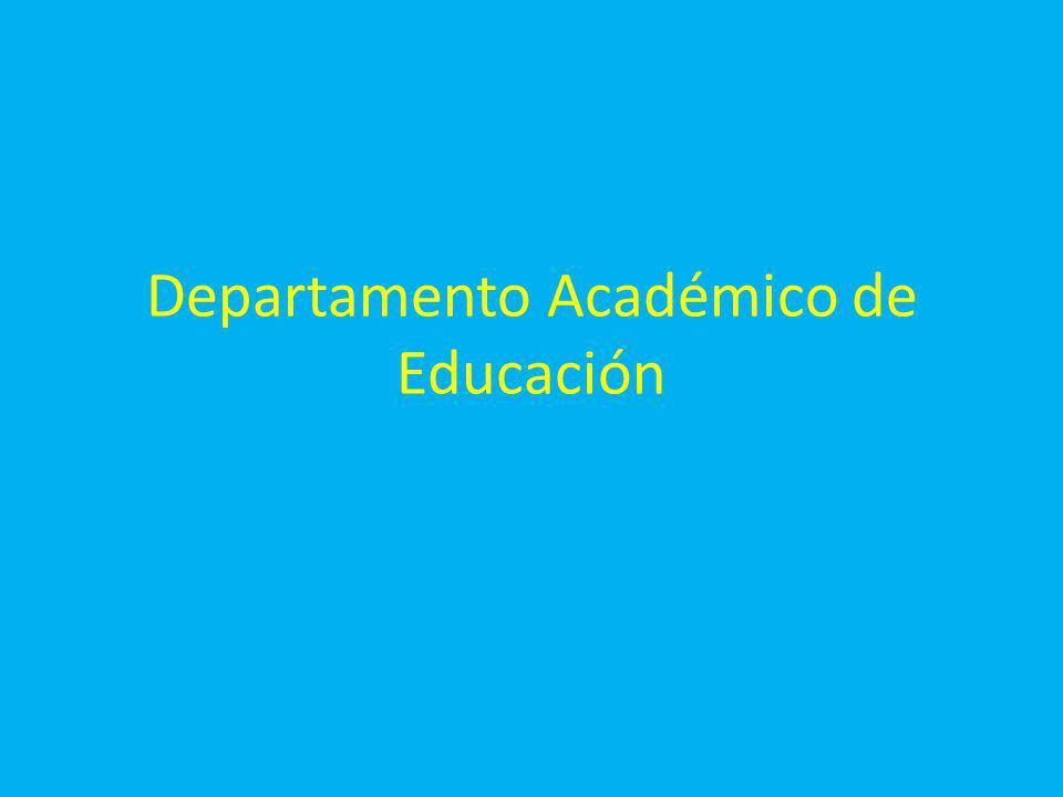 Departamento Académico de Educación