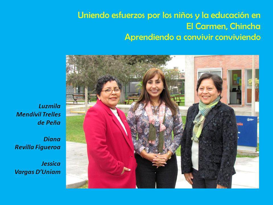 Uniendo esfuerzos por los niños y la educación en El Carmen, Chincha