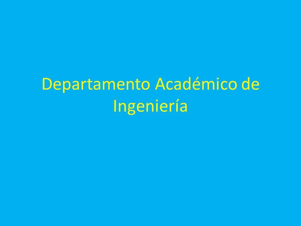 Departamento Académico de Ingeniería