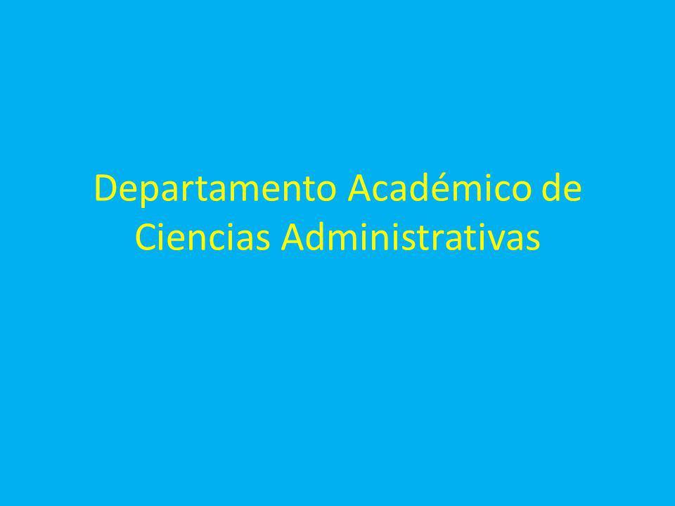 Departamento Académico de Ciencias Administrativas