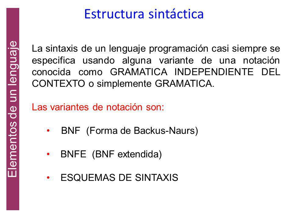 Estructura sintáctica