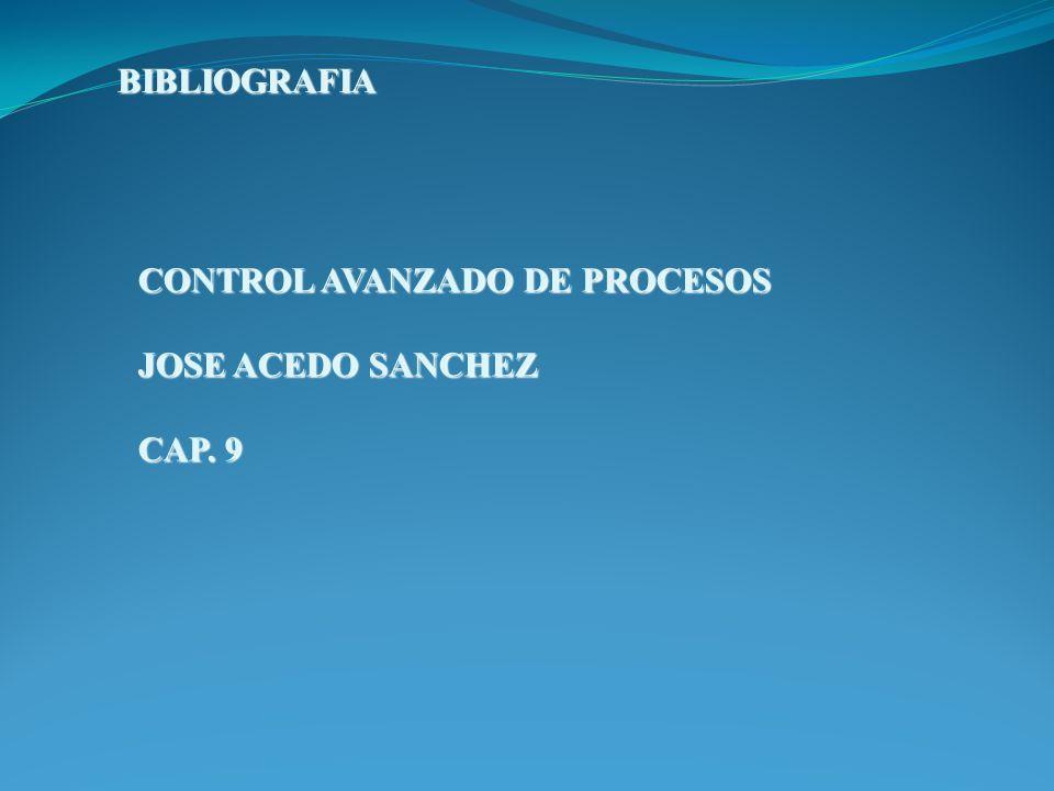 BIBLIOGRAFIA CONTROL AVANZADO DE PROCESOS JOSE ACEDO SANCHEZ CAP. 9