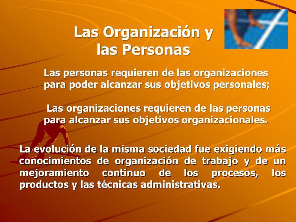 Las Organización y las Personas