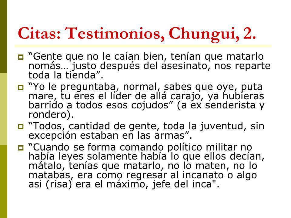 Citas: Testimonios, Chungui, 2.