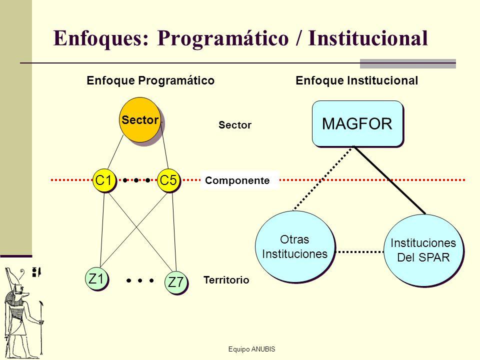 Enfoques: Programático / Institucional