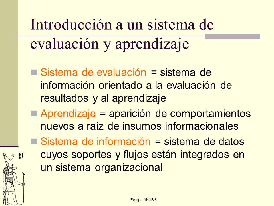 Introducción a un sistema de evaluación y aprendizaje