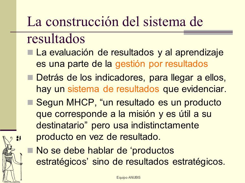 La construcción del sistema de resultados