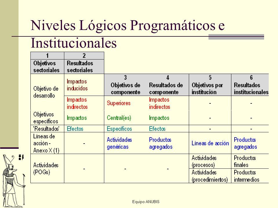 Niveles Lógicos Programáticos e Institucionales