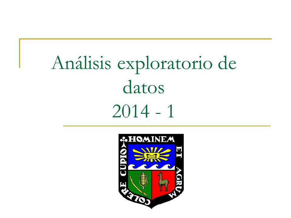 Análisis exploratorio de datos 2014 - 1