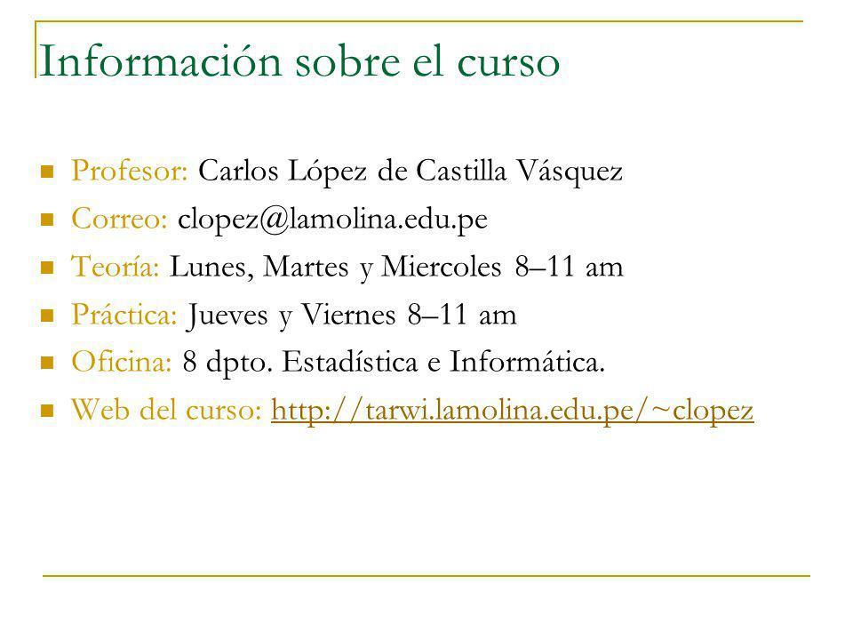 Información sobre el curso