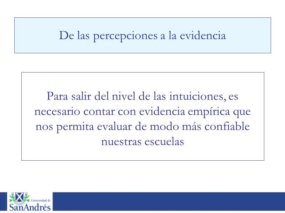De las percepciones a la evidencia