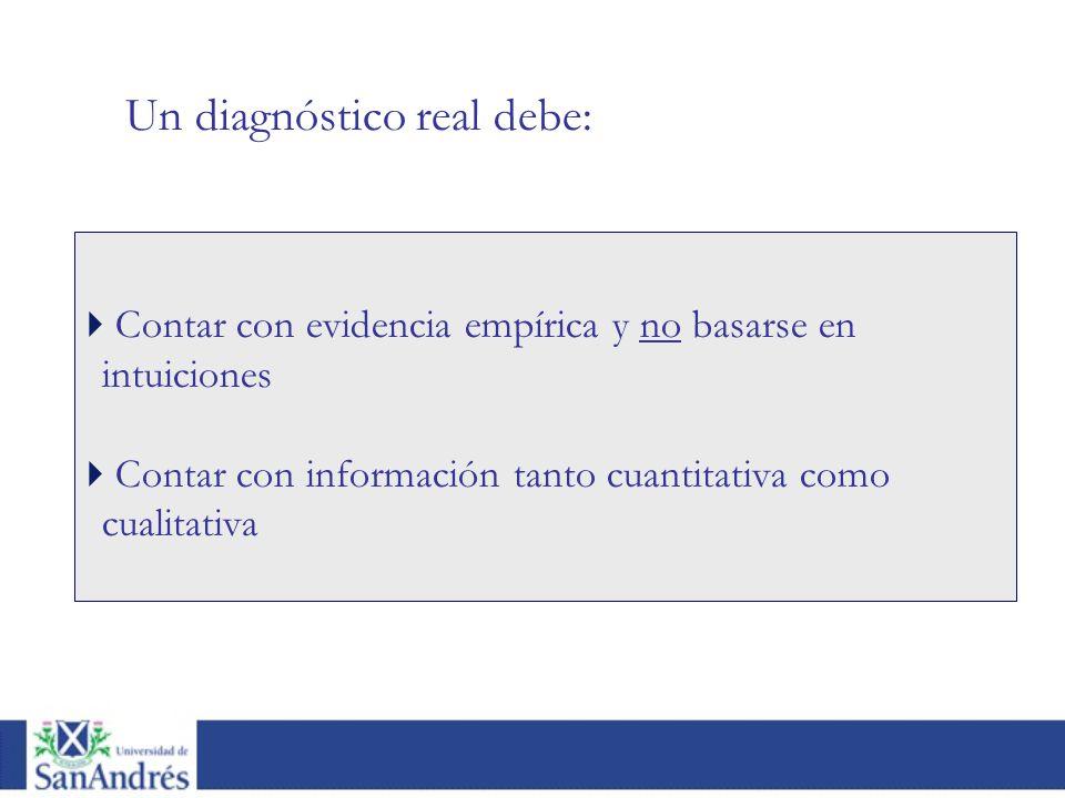 Un diagnóstico real debe:
