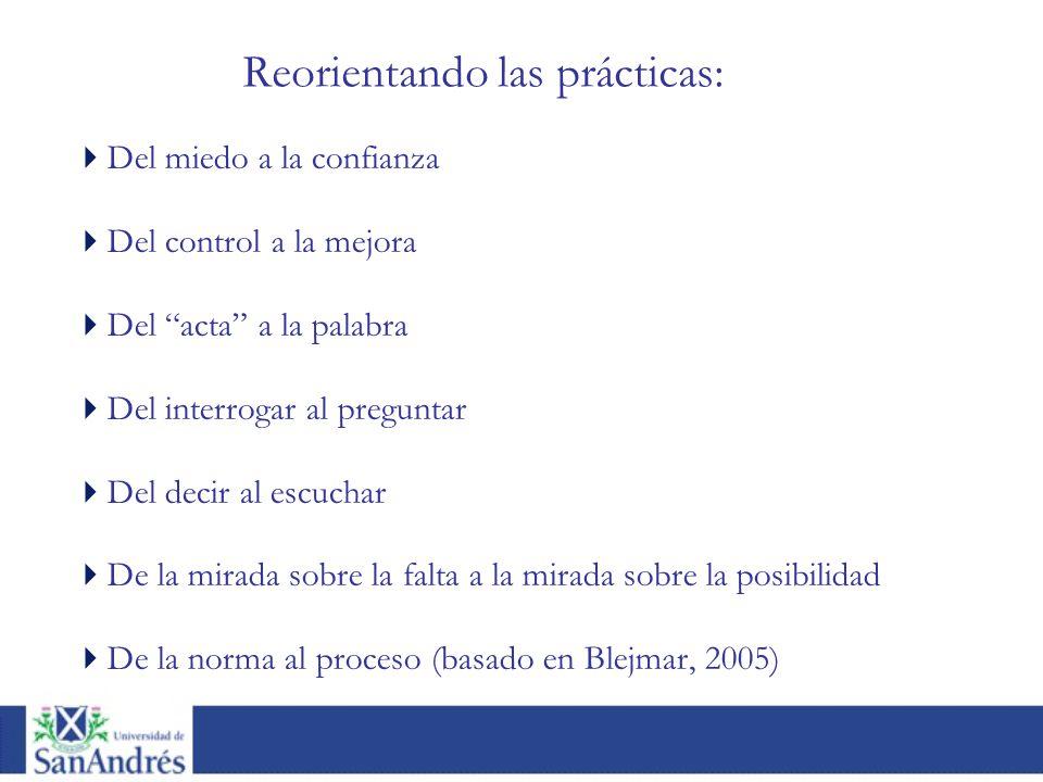 Reorientando las prácticas: