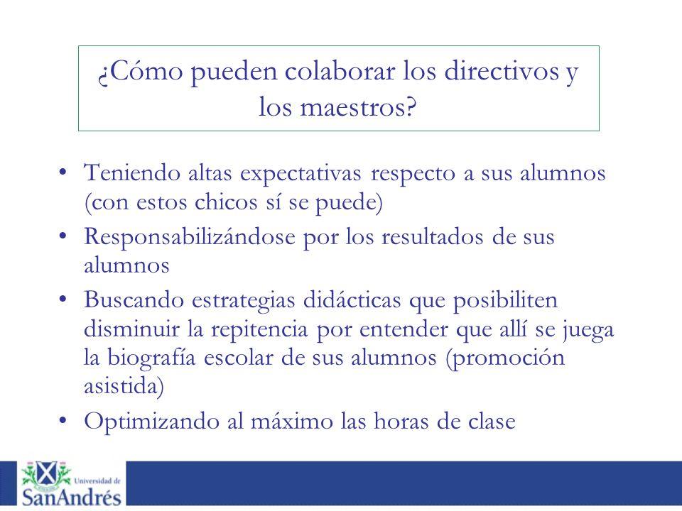 ¿Cómo pueden colaborar los directivos y los maestros